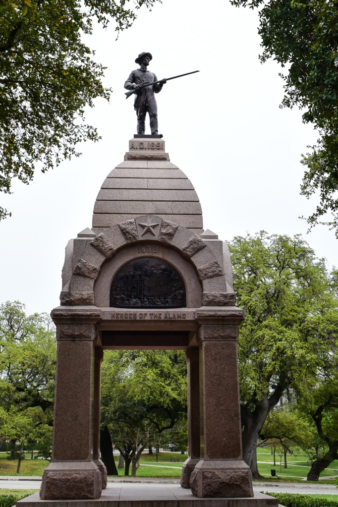 Monument to the heroes of the Alamo on the grounds of Texas state capitol